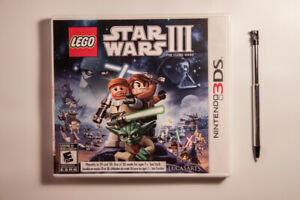 LEGO Star Wars III The Clone Wars Nintendo 3DS Game + Touch Pen