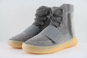Adidas Yeezy Boost 750 Light Grey Gum Glow size 7