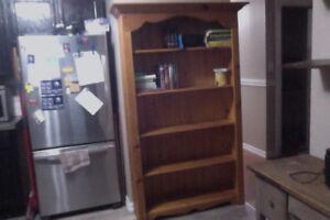 Solid knotty pine shelf
