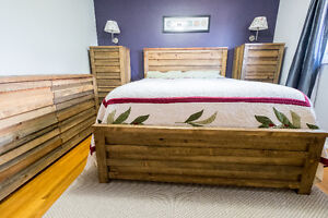 COMPLETE BEDROOM SET - UNIQUE REPURPOSED WOOD