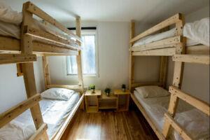 Lit à louer au mois pour 450$ - Monthly bed