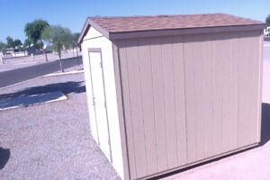 Snow bird special! utility shed