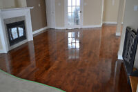 Floor sanding / Sablage , pose et reparation de plancher