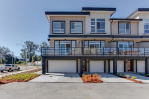 Brand New 3 BR Double Garage Corner Unit Townhome Chilliwack