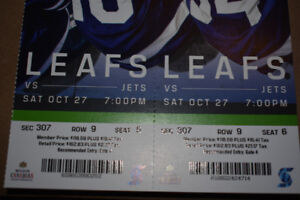 Green Seats: Leafs vs. Jets October 27th at Scotiabank Arena.