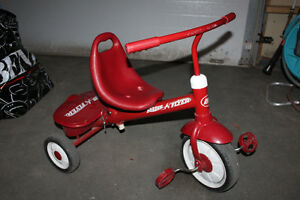 Radio Flyer Tricycle with optional parent push/steer bar