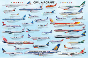 Civil Aircraft Poster Print, 36x24