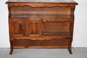 Country Solid Pine Upper Hutch