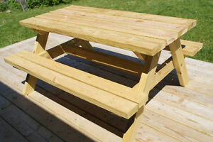 6' Hand Crafted 2x6 Cedar or Pressure Treated Picnic Table