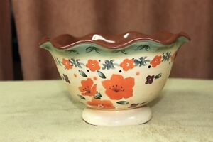 "Serving Bowl ""Syle Eyes"" by Baum Bros.Tuscan Floral Collection"