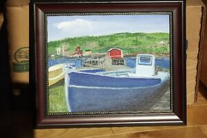 Original Oils  on Canvas board + Frame St. John's Newfoundland image 3