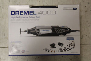 Dremel 4000 - 34 High Performance Rotary Tool Kit - Used twice
