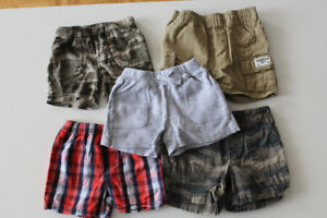 5 pairs of summer shorts, size 6, good condition