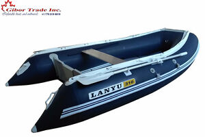"10 ' inflatable fishing boat with aluminum floor 18"" Tubes"