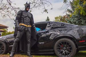 Batman Party complete with Batmobile