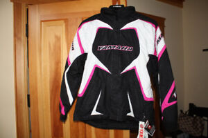 Ladies snowmobile suit with floater pants