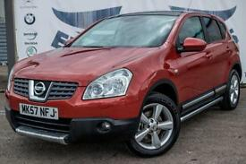 2007 NISSAN QASHQAI 2.0 TEKNA SIDE PIPES BLACK LEATHER XENON HEADLIGHTS HATCHBAC