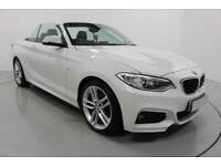 2016 WHITE BMW 218i 1.5 M SPORT CONVERTIBLE 2DR MANUAL CAR FINANCE FR £241 PCM