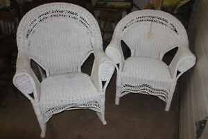Matching Wicker Rocker & Chair (used very little)