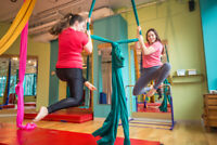 $12 intro class for Aerial Circus or Pole Sport Classes