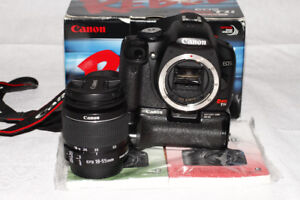 Canon T1i Rebel Body+kit lens in Mint condition,all accessories.