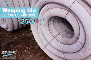 Perforated pipe – Weeping tile | Surface Flow Control Edmonton Edmonton Area image 3