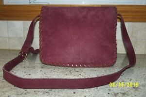 Roots Leather Saddle Purse