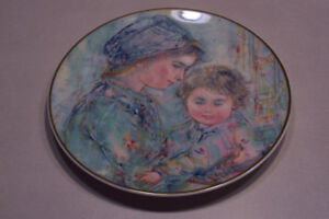 Royal Doulton Plate, Colette And Child, 1973 Limited Edition