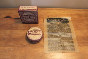 Old Soothing Salve Ointment Tin with Original Box