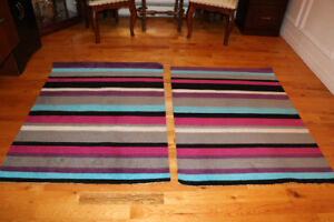 "Two Area Rugs - 52"" x 39"""