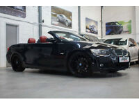"BMW 325i M Sport Convertible, 08 Reg, 75k, Black Sapphire, Red Leather, 19"" CSL"