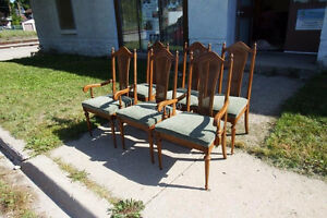 Large Wooden Dining Room Table & Six Chairs Kitchener / Waterloo Kitchener Area image 6