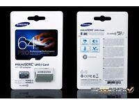 Samsung 64gb pro + sandisk 4gb sd card