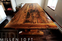 Trestle Style Tables [Heavy Duty] reclaimed wood