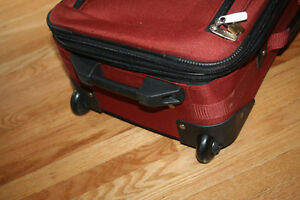 Via Rail Carry on luggage in burnt orange purchased at the Bay Kitchener / Waterloo Kitchener Area image 6
