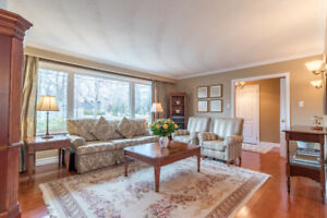 Living room suite - couch, chairs, tables, armoire