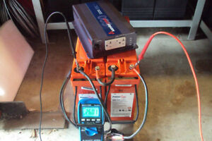 SAMLEX 24V 600W SOLAR INVERTER WITH AGM BATTERIES AND CABLES