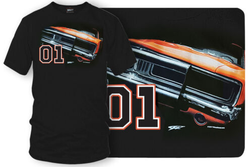 Dodge Charger t-shirt, Dukes of Hazzard Style t-shirt Black - Wicked Metal - $19