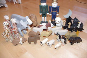 30 HANDMADE Wooden Animal Figures