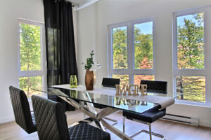 NEW PRESTIGE CONDO/JACUZZI ROOFTOP TERRACE/VIEW ON FOREST