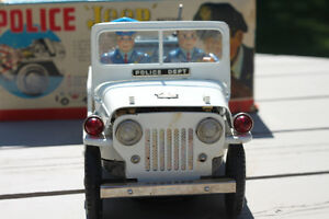 VINTAGE TOY POLICE JEEP