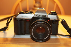 Konica FT-1 Motor 35mm Film Camera With A 50mm Lens