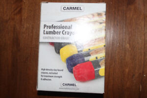 Lumber Crayons (all red) Pro Grade - 20 boxes - 12 per box.