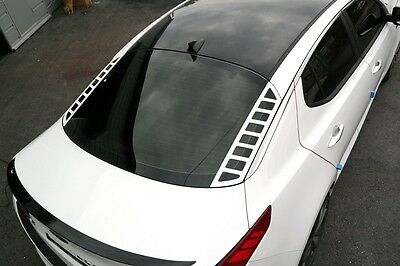 Rear Glass Acrylic Plate Mask Matte White for 2011 2015 Kia Optima K5