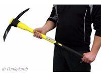 5lb Mattock and Heavy Duty Fibreglass Non Slip Handle Shaft Pick Axe Hand Tool