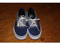 Blue unisex Vans UK size 4