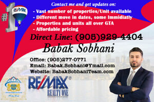 Condos and apprtments avilable for lease/rent