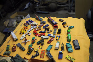 Lot of played with toy cars