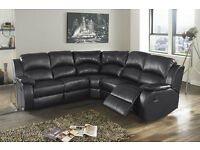 BRAND NEW Top Quality Leather Recliner Corner Unit - in Cream, Black, Brown colors