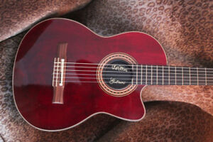 Gibson Chet Atkins CEC Red Nylon Strings Guitar